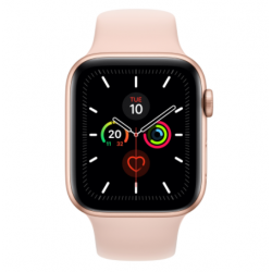 Watch Series 5 GPS, 44mm Gold Aluminium Case with Pink Sand Sport Band - S/M & M/L