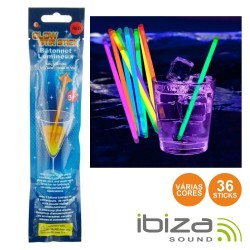 Conjunto 36 Barras Luminescentes Multicor 200mm IBIZA