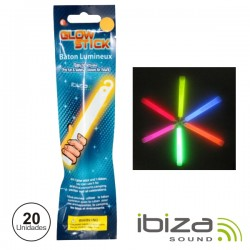 Conjunto 20 Barras Luminescentes Multicor 150mm IBIZA