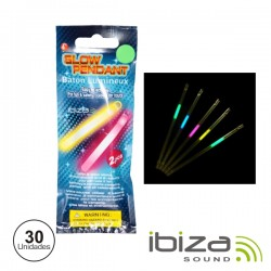Conjunto 30 Barras Luminescentes Multicor 210mm IBIZA