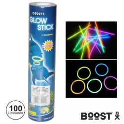Conjunto 100 Barras Luminescentes Multicor 200mm Boost