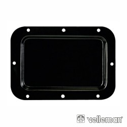 Placa p/ Terminais s/ Furos 126x179mm Preto HQ POWER