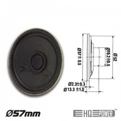 Altifalante Miniatura 1W 8 Ohm 57mm HQ POWER
