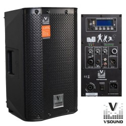 "Coluna Bi-Amplificada PRO 8"" USB/SD/FM/BT 300W VSOUND"
