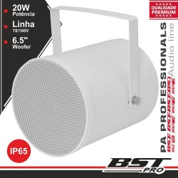 "Altifalante Projetor Som PA 100V 6"" 20W IP65 ABS Branco"