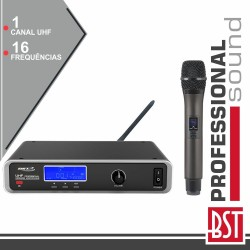 Central Microfone S/ Fios 1 Canal Uhf 16 Freq Cee BST