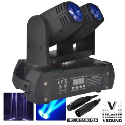Moving Head Duplo 2 LEDS 12W Duplo DMX Mic VSOUND