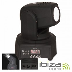 Moving Head Mini 1 LED CREE Branco 10W Foco DMX Mic IBIZA