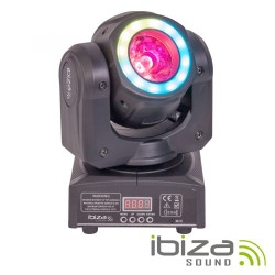 Moving Head 40W 2 Em 1 Beam/Wash Anel 12 LEDS DMX Mic IBIZA