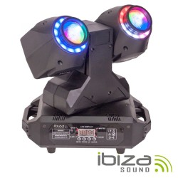Moving Head Duplo 2 Em 1 Beam/Wash Anel LEDS DMX Mic IBIZA