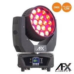 Moving Head 19 LEDS 12W RGBW Ptz DMX AFXLIGHT