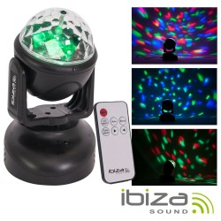 Moving Head 6 LED RGB 18W IBIZA