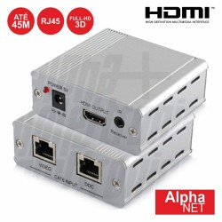 Receptor HDMI Via RJ45 CAT5E/6 45m Alphanet