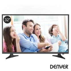 "TV LED 32"" HD 2 HDMI USB Dvb-T2/S2/C DENVER"