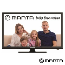"TV LED 24"" HD HDMI USB 230/12V Manta"
