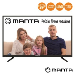 "Smart TV DLED 43"" Full HD USB 2 HDMI Android MANTA"
