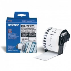 Rolo de Papel Original Brother DK22223 Contínuo Autocolante
